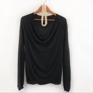 ARITZIA BABATON Black Long Sleeve Knit Top